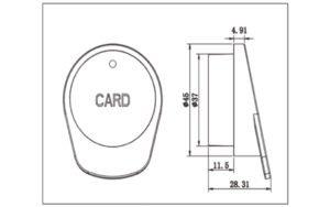 Product dimension of RFID locker lock