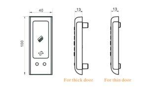 RFID locker lock dimensions